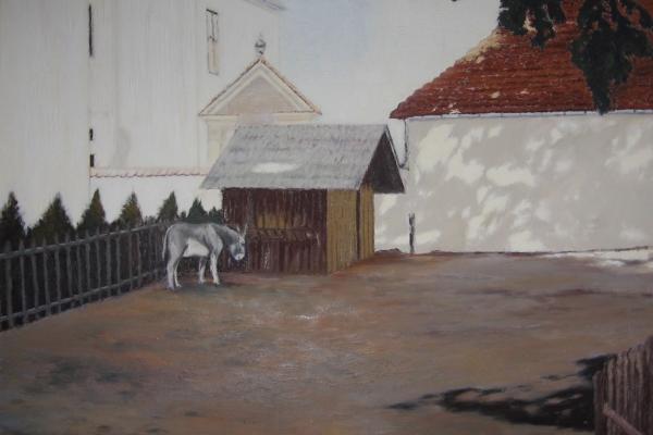 Zagroda-z-osiołkiem-na-Dewajtis-2005-2007-olej-płótno-wym.100x120-cm-600x400.jpg
